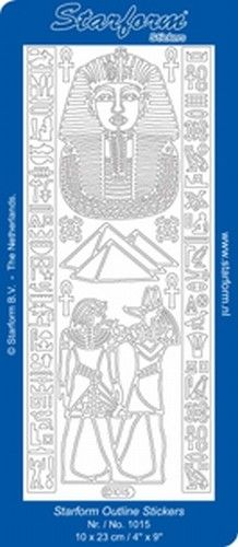 Nieuw bij Knutselparade: H441 Starform sticker zilver Toetanchamon/Egypte 1015 https://knutselparade.nl/nl/stickervellen/7066-h441-starform-sticker-zilver-toetanchamon-egypte-1015.html   Stickervellen, Overige Thema's -  Starform