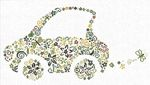 October 2nd is Name Your Car Day. Have you named your car yet?      Here is Small Green Car in cross stitch from Alessandra Adelaide Needleworks. A little auto filled with green motifs and flowers. 60's inspired design is stitched in yellows and greens. 224 x 115 stitches.  Store owners may purchase wholesale from Yarntree.com