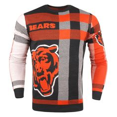 Chicago Bears Plaid Sweater - Navy