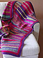 Image of Three-panel Striped Afghan