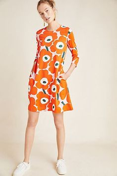 Shop new women's clothing at Anthropologie to discover your next favorite closet staple. Check back frequently for the latest clothing arrivals! Marimekko Dress, Botanical Fashion, New Outfits, Fashion Outfits, Pop Art, Scandinavian Fashion, Fashion Fabric, The Dress, Everyday Fashion