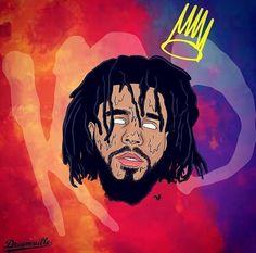 Check out ❤️ Arte Do Hip Hop, Hip Hop Art, J Cole Albums, J Cole Art, Sillouette Painting, Rap Us, Trill Art, Rapper Art, Small Canvas Art
