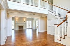 love everything about this!!! such a sucker for staircases and hard wood floors!