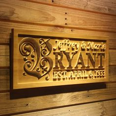 """wpa0246 Personalized Custom Wedding Anniversary Family Sign Surname Last First Name Rustic Home Décor Housewarming Gift 5 Year """"wood"""" Anniversary Gift Wooden Signs - Medium 18.25"""" x 7.25"""""""