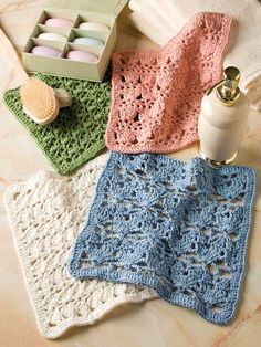 Pretty Shells Washcloths