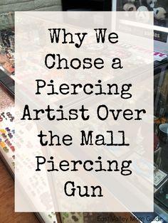 Mall Piercing Gun vs Piercing Studio/Reputable Tattoo Shop - if my boys ever want their ears pieced Kids Ear Piercing, Lobe Piercing, Piercing Tattoo, Types Of Ear Piercings, Piercings For Girls, Quartz Stone, Rose Quartz, Flat Back Earrings, Tattoos