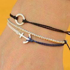 DIY Jewerly DIY Nautical Rope : DIY: Anchor Bracelet