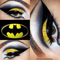Batman inspired makeup