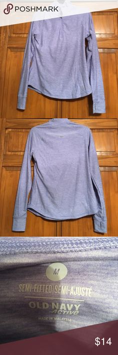 fitted quarter zip workout top lightly worn, like new condition, fitted, lavander Nike Tops Tees - Long Sleeve