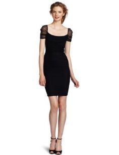 Jessica Simpson Women's Short Sleeve Gathered Starlot Dress: Clothing