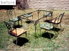 Before U0026 After: Backyard Patio Furniture Redone After Fire  This Is Such An  Incredible