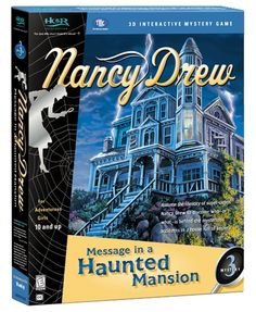 Nancy Drew: Message in a Haunted Mansion computer game. Discover Who — or What — is Behind the Mysterious Accidents in a House Full of Secrets! http://www.herinteractive.com/Mystery_Games/Nancy_Drew/Message_in_a_Haunted_Mansion/pc