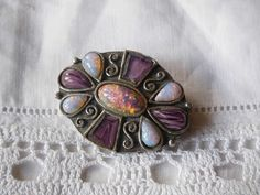 Beautiful Vintage Opal Cabochon Brooch by Miracle Jewellery Uk, Cuff Bracelets, 1960s, Opal, Brooch, Jewlery, Beautiful, Vintage, Jewerly