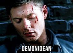 Not Dean. Click through for full :gif: Supernatural Demon Dean, Jensen Ackles Supernatural, Jensen And Misha, Mary Winchester, Army Men, Two Brothers, Crazy People, Misha Collins, Destiel