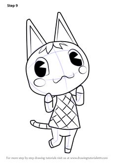 Learn How to Draw Rosie from Animal Crossing (Animal Crossing) Step by Step : Drawing Tutorials Drawing For Beginners, Beginner Drawing, Drawing Tutorials, Coloring Books, Coloring Pages, Colouring, Rosie Animal Crossing, Learn To Draw, Learn Drawing