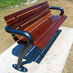 Urban Fountains and Furniture has designed a truly remarkable seat, the Euro Bench Seat. Cheap Patio Furniture, Iron Furniture, Bench Furniture, Inexpensive Furniture, Street Furniture, Concrete Bench, Concrete Furniture, Metal Garden Benches, Garden Chairs
