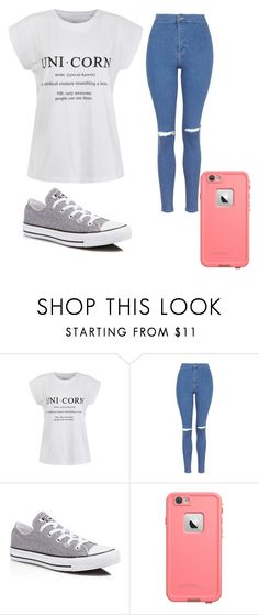 """""""Simply Casual"""" by cathlewis70 ❤ liked on Polyvore featuring Ally Fashion, Topshop and Converse"""