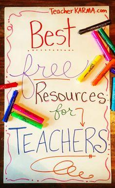 Best FREE Resources for TEACHERS! http://TeacherKARMA.com