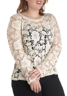 Best in Snow Top in Plus Size, #ModCloth