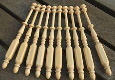 Square Lace Bobbins - ten lightwood bobbins