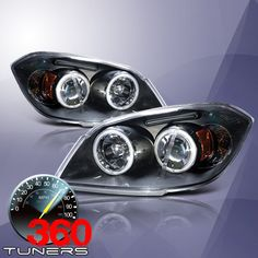 02 05 Chevy Trailblazer Ccfl Halo Projector Headlights With Amber Reflector 2004