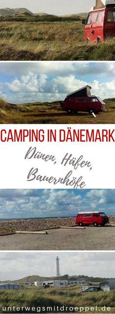#Camping in #Dänemark - unsere Tipps für Campingplätze und Stellplätze in Jütland. Camping in den Dünen, an Häfen, auf Bauernhöfen - haben wir während unseres Roadtrips mit dem Bulli durch Dänemak ausprobiert. #Reise