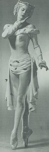"Vintage ballet photo -  one more of beautiful ballerina Diana Adams in Frederick Ashton's ""Picnic at Tintangel"" NYC Ballet"