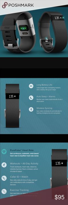 Small new in box Fitbit charger included Product details Brand:Fitbit Fitbit product line:Charge Series Fitbit Charge series product line:Charge HR Type:Wristband Function:Pedometer Activity tracker provides constant feedback on exercise, heart rate, and calories burned while syncing wirelessly to most smartphones Size: Small Color: Black. Gender: Unisex. ... Accessories Watches