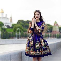 Russia 🇷🇺 discovered by florence 🌹 on We Heart It Russian Beauty, Russian Fashion, Russian Style, Style Outfits, Cute Outfits, Folk Fashion, Womens Fashion, Fashion News, Modest Fashion
