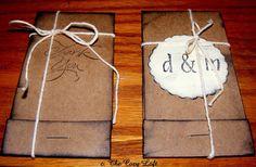 Country Rustic Wedding Favors, matchbook/notebook #rusticwedding #favors