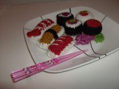 Stitch Love: Sushi Pattern http://shellatin.blogspot.com/2010/06/sushi-pattern.html  May 2013 #TheCrochetLounge #Sushi Pick
