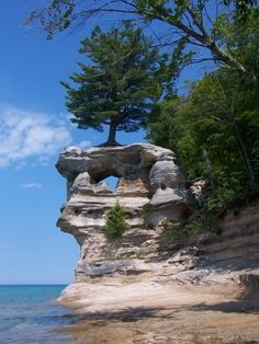 Pictured rocks, another Michigan beauty. Hiked there 2 times and would love to go back for a third time
