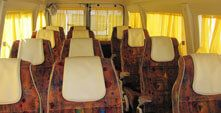 Travel Point India Provide Luxury 17+1 Seater Tempo Travellers For Delhi and Outstation Tours / Trips / Holidays. This is a Modified Tempo Traveller with 2X1 Seating Configuration Called Maharaja Seates and Can Accommodate 17 Passengers Comfortable. And Also Has Separate Huge Luggage Space on Back Side