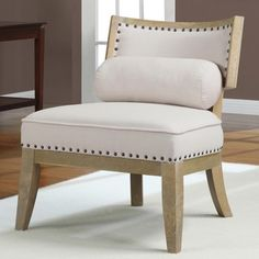 HannahTan Chair with Bolster Pillow | Overstock.com