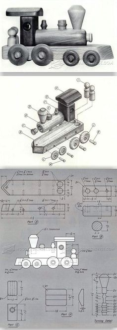 Wooden Toy Train Plans - Wooden Toy Plans and Projects - Woodwork, Woodworking, Woodworking Plans, Woodworking Projects