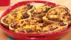 Cheeseburger Potato Skins- So many good recipes on Rachael Ray today!