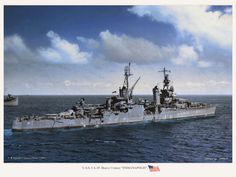 USS Indianapolis CA-35, carrying parts and the enriched uranium (about half of the world's supply of Uranium-235 at the time) for the atomic bomb Little Boy, which would later be dropped on Hiroshima