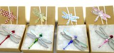 DRAGONFLY BEREAVEMENT GIFT Stained Glass by RedPineJewelryDesign