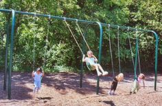Kidstuff Playsystems 42004 4-Place Arched Swing, Belt Seats-- #ChristmasGiftIdeas