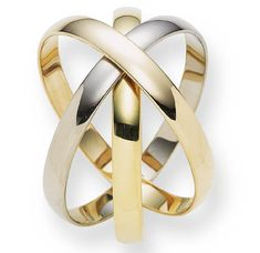 "A TRI-COLOR GOLD ""ROLLING RING"" BRACELET, BY CARTIER   Composed of three interlocking bangles in 18K rose, white and yellow gold, 25/8 ins. diameter  Signed Cartier, No. 951446"