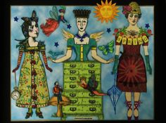 Spring is here, used stamps from Beekeeper, Timekeeper, Cirque, Mannequin, Inner Child.  On display at a retail shop in Florida.  Art by Shannon Benedetti.