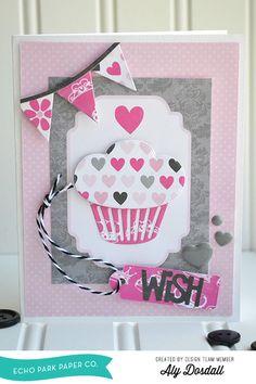 *Echo Park* Wish Card - Scrapbook.com - Cut adorable shapes using Echo Park dies.