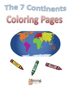 GEOGRAPHY: The 7 Continents Coloring Pages
