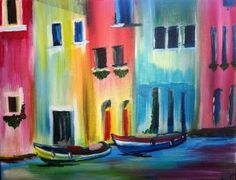 """Create your own """"Venice Canal""""at a local winery. More info at CorksandCanvasEvents.com"""