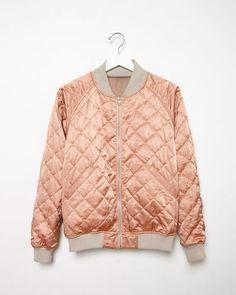 Shop Fashion on La Garconne, an online fashion retailer specializing in the elegantly understated. Sweater Jacket, Blazer Jacket, Satin Bomber Jacket, Winter Jackets, Denim, Chic, My Style, Blazers, Sweaters