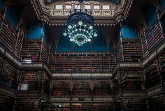 As 18 bibliotecas mais majestosas do planeta 3 Real Gabinete Português de Leitura, Rio De Janeiro, Brasil