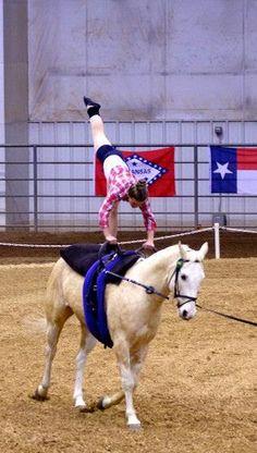 Mackenzi on Charlie Vaulting, Goats, Pony, Horses, Animals, Pony Horse, Animales, Animaux, Ponies