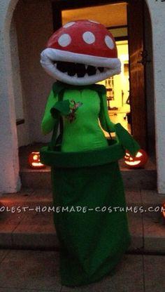 Piranha plant costume Halloween Cosplay, Cosplay Costumes, Halloween Costumes, Mario Bros, Holi, Ronald Mcdonald, Creepy, Plant, Gifts