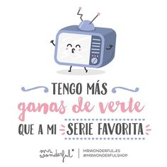 Estoy contando las horas para veros… (a los dos) #mrwonderful #quote #love Love Quotes For Him, Cute Quotes, Funny Quotes, Love Is Sweet, My Love, Jolie Phrase, Love Phrases, Its A Wonderful Life, Spanish Quotes