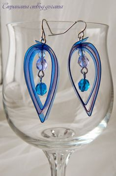 Country beyond the arc: New series earrings plastic bottles - Recycled Plastic Bottle Earrings